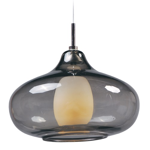 ET2 Lighting Minx Polished Chrome Mini-Pendant Light with Oblong Shade E94348-142PC