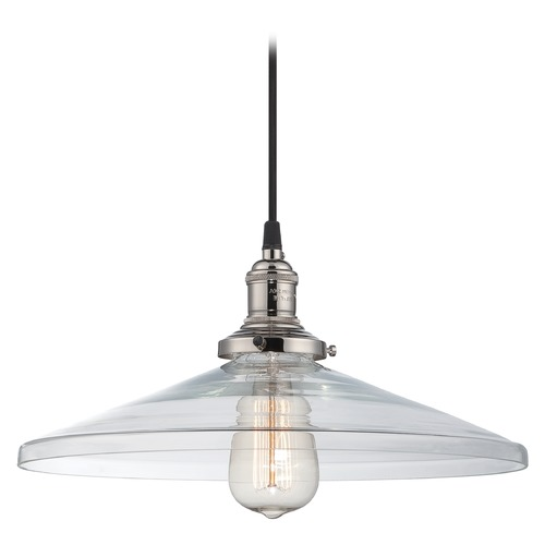 Nuvo Lighting Pendant Light with Clear Glass in Polished Nickel Finish 60/5408
