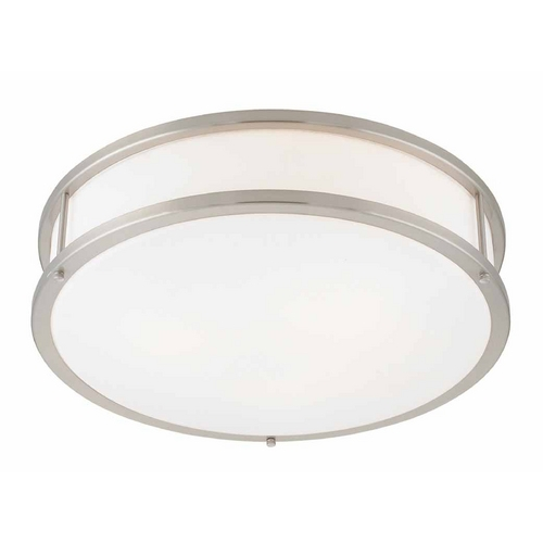 Access Lighting Access Lighting Conga Brushed Steel LED Flushmount Light 50081LEDD-BS/OPL