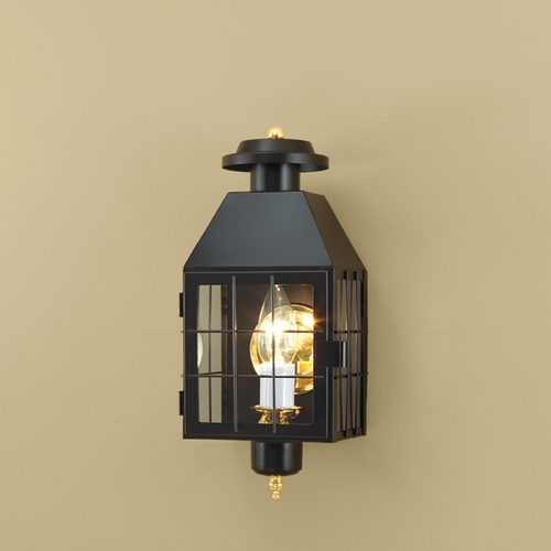 Norwell Lighting Norwell Lighting American Heritage Black Outdoor Wall Light 1059-BL-CL