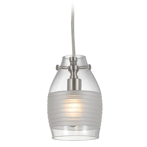 Elk Lighting Elk Lighting Carved Glass Brushed Nickel Mini-Pendant Light with Bowl / Dome Shade 46161/1