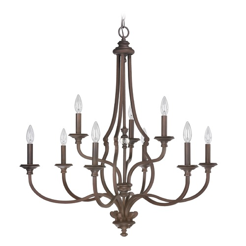 Capital Lighting Capital Lighting Leigh Burnished Bronze Crystal Chandelier 4709BB-000