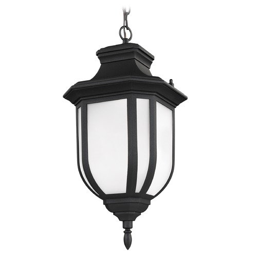 Sea Gull Lighting Sea Gull Lighting Childress Black LED Outdoor Hanging Light 6236391S-12