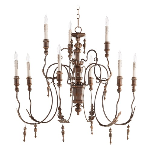Quorum Lighting Quorum Lighting Salento Vintage Copper Chandelier 6006-9-39