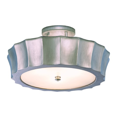 Norwell Lighting Norwell Lighting Isabel Brush Nickel Semi-Flushmount Light 5652-BN-MO