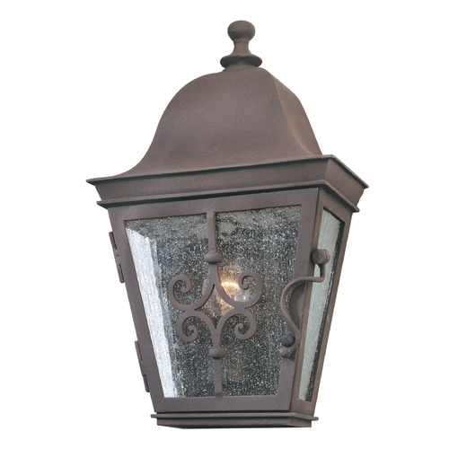 Troy Lighting Outdoor Wall Light with Clear Glass in Weathered Bronze Finish B2351WB
