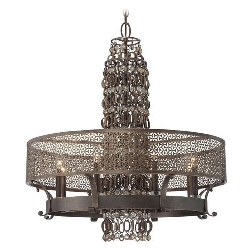 Metropolitan Lighting Chandelier in French Bronze Finish N6726-258