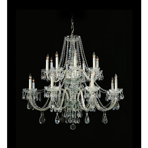 Crystorama Lighting Crystal Chandelier in Polished Chrome Finish 1139-CH-CL-SAQ