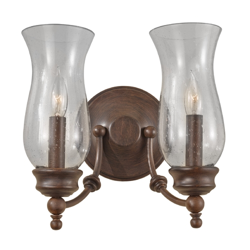 Feiss Lighting Sconce Wall Light with Clear Glass in Heritage Bronze Finish WB1598HTBZ