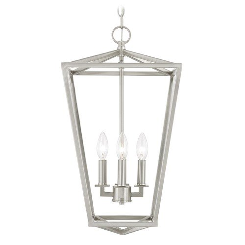 Design Classics Lighting Design Classics Terrazza Entry Satin Nickel Pendant Light 1798-09