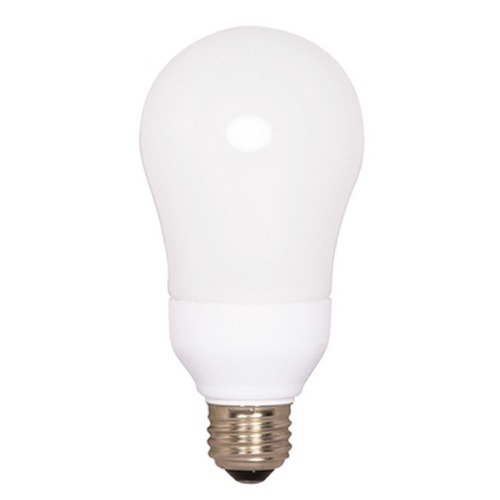 Satco Lighting 15-Watt Cool White A-Type Compact Fluorescent Light Bulb S7292
