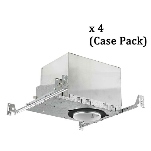 Recesso Lighting by Dolan Designs 4-Inch New Construction GU10 Recessed Can Light IC & Airtight Flat Ceiling Case Pack of 4 IC400-GU-CASE