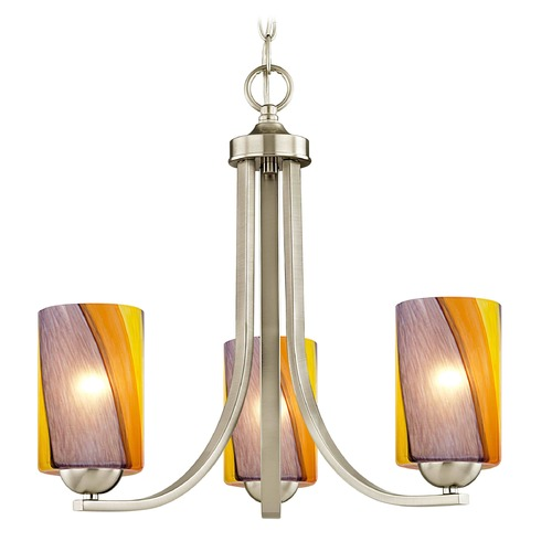 Design Classics Lighting Design Classics Dalton Fuse Satin Nickel Mini-Chandelier 5843-09 GL1015C
