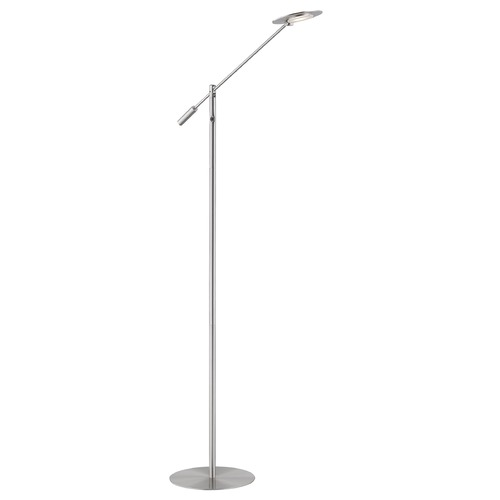 Design Classics Lighting Design Classics Satin Nickel LED Floor Lamp 3000K 650LM 2797-SN