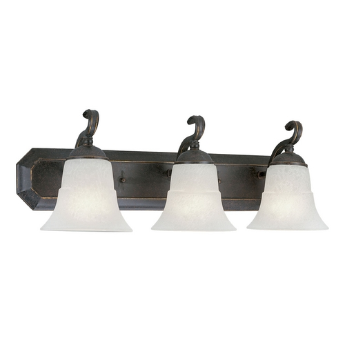 Progress Lighting Progress Bathroom Light with White Glass in Espresso Finish P3023-84