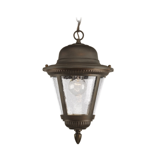 Progress Lighting Progress Outdoor Hanging Light with Clear Glass in Bronze Finish P5530-20