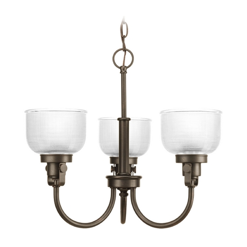 Progress Lighting Mini-Chandelier with Clear Glass in Venetian Bronze Finish P4688-74