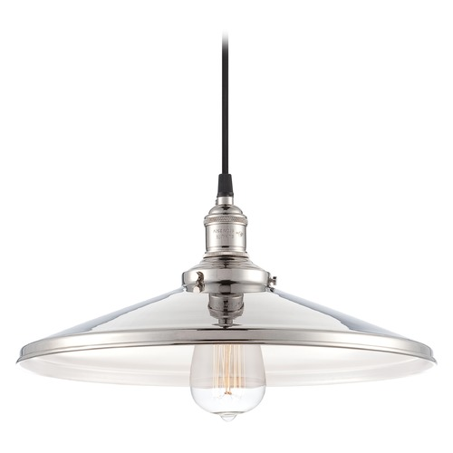 Nuvo Lighting Pendant Light in Polished Nickel Finish 60/5409