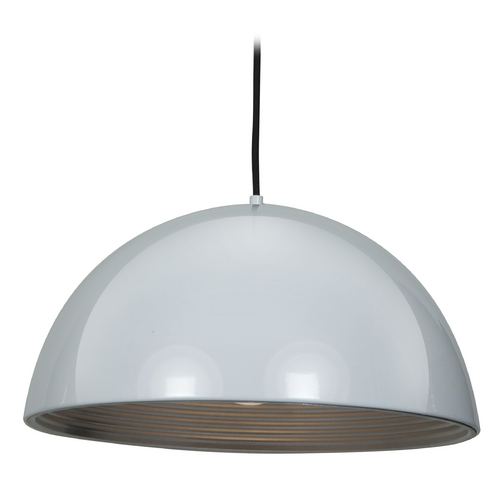 Access Lighting Access Lighting Astro Glossy White / Silver Pendant Light 23766-GWH/SILV