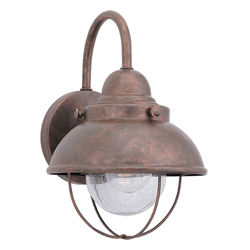 Sea Gull Lighting Marine / Nautical Seeded Water LED Outdoor Wall Light Copper Sebring by Sea Gull Lighting 887091S-44