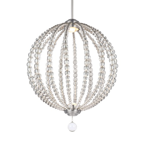 Feiss Lighting Feiss Lighting Oberlin Satin Nickel LED Pendant Light P1426SN-LED