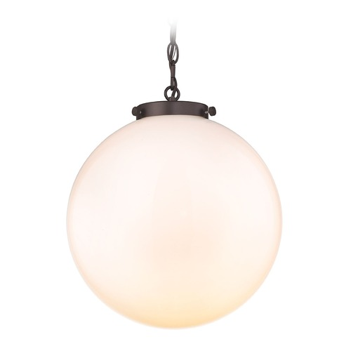 Elk Lighting Elk Lighting Gramercy Oil Rubbed Bronze Pendant Light with Globe Shade 16383/1