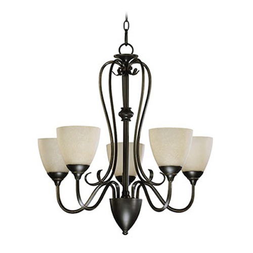 Quorum Lighting Quorum Lighting Powell Oiled Bronze Chandelier 6008-5-86