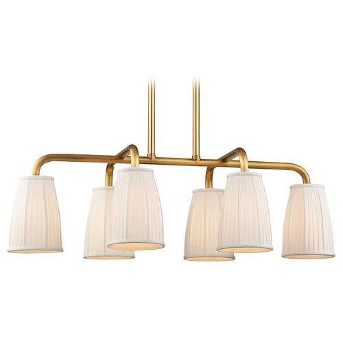 Hudson Valley Lighting Hudson Valley Lighting Malden Aged Brass Island Light with Bell Shade 6066-AGB