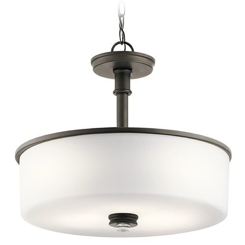 Kichler Lighting Kichler Lighting Joelson Olde Bronze Pendant Light with Drum Shade 43925OZ