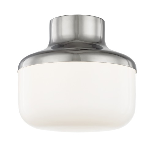 Mitzi by Hudson Valley Industrial Flushmount Light Polished Nickel Mitzi Livvy by Hudson Valley H144501S-PN