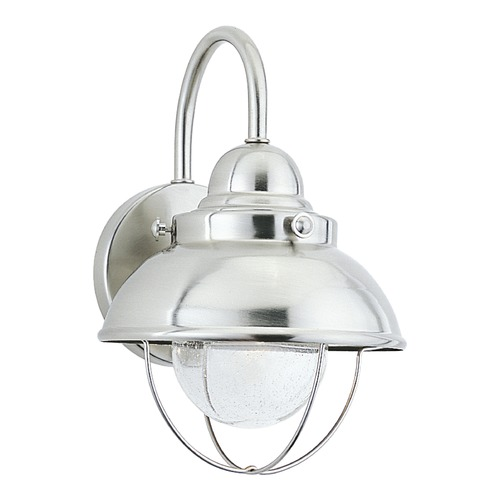 Sea Gull Lighting Sea Gull Lighting Sebring Brushed Stainless LED Outdoor Wall Light 887093S-98