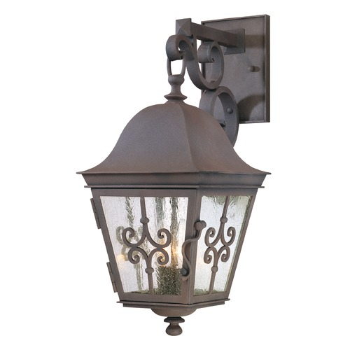 Troy Lighting Outdoor Wall Light with Clear Glass in Weathered Bronze Finish B2352WB