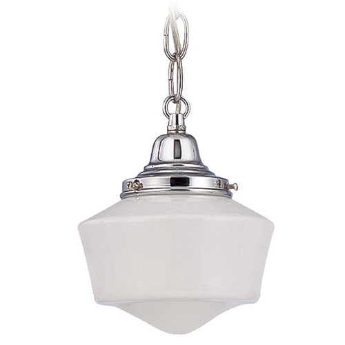 Design Classics Lighting 6-Inch Period Lighting Schoolhouse Mini-Pendant Light with Chain  FC3-26 / GF6 / B-26