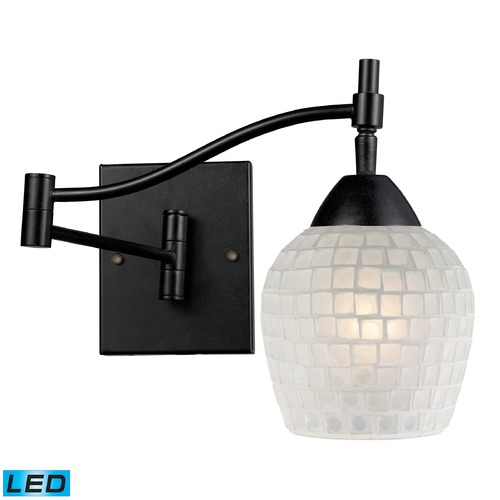 Elk Lighting Elk Lighting Celina Dark Rust LED Swing Arm Lamp 10151/1DR-WHT-LED