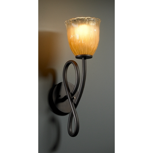 Justice Design Group Justice Design Group Veneto Luce Collection Sconce GLA-8911-56-GLDC-DBRZ