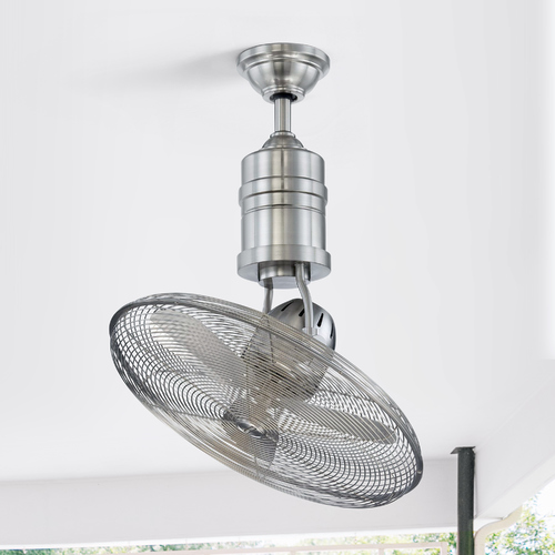 Craftmade Lighting Craftmade Lighting Bellows IIi Stainless Steel Ceiling Fan Without Light BW321SS3