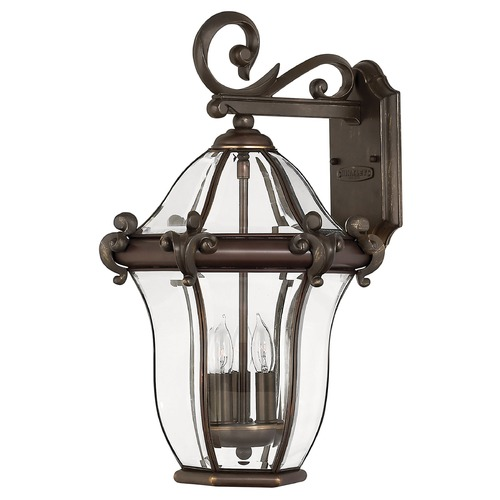 Hinkley Outdoor Wall Light with Clear Glass in Copper Bronze Finish 2444CB