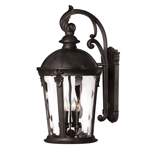Hinkley Lighting LED Outdoor Wall Light with Clear Glass in Black Finish 1899BK-LED