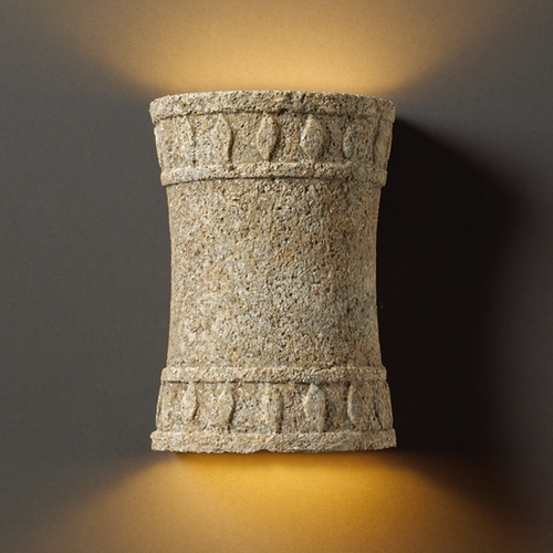 Justice Design Group Outdoor Wall Light in Mocha Travertine Finish CER-7900W-TRAM