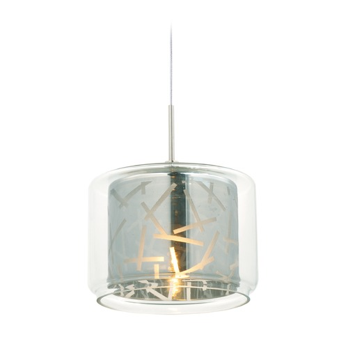 ET2 Lighting Minx Polished Chrome Mini-Pendant Light with Drum Shade E94349-146PC