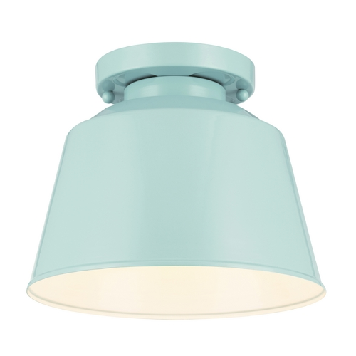 Feiss Lighting Feiss Lighting Freemont Hi Gloss Blue Close To Ceiling Light OL15013SHBL