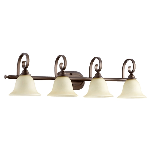 Quorum Lighting Quorum Lighting Celesta Oiled Bronze Bathroom Light 5053-4-86