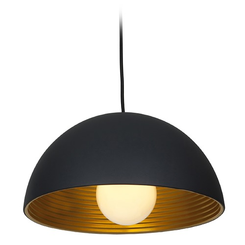 Access Lighting Access Lighting Astro Black Pendant Light with Bowl / Dome Shade 23766-MBL/MGL