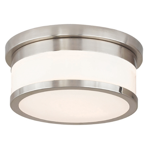 Livex Lighting Livex Lighting Stafford Brushed Nickel Flushmount Light 65501-91