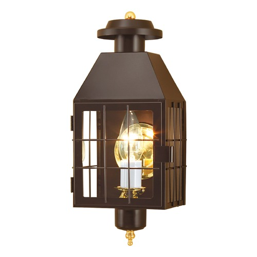 Norwell Lighting Norwell Lighting American Heritage Bronze Outdoor Wall Light 1059-BR-CL