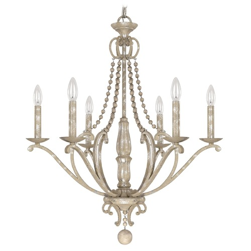 Capital Lighting Capital Lighting Adele Silver Quartz Chandelier 4446SQ-000