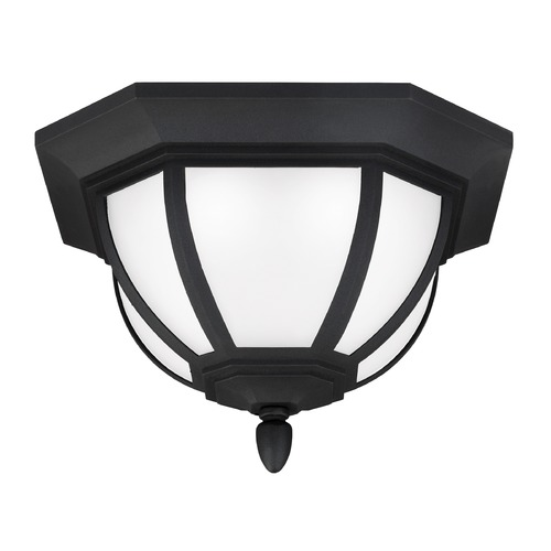 Sea Gull Lighting Sea Gull Lighting Childress Black LED Close To Ceiling Light 7836391S-12