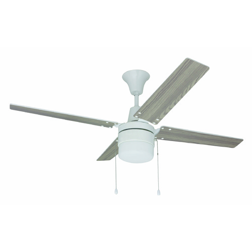 Craftmade Lighting Craftmade Lighting Wakefield White Ceiling Fan with Light UBW48WW4C1