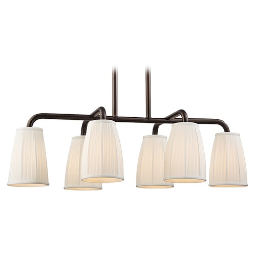 Hudson Valley Lighting Hudson Valley Lighting Malden Distressed Bronze Island Light with Bell Shade 6066-DB