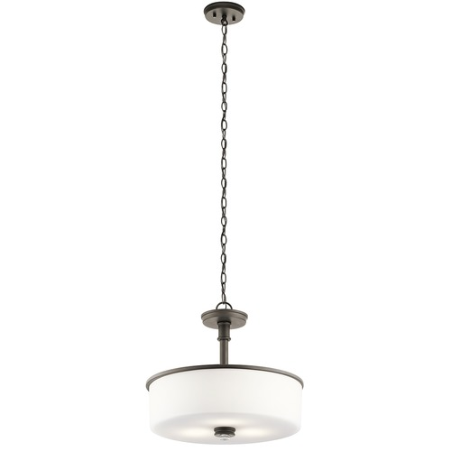 Kichler Lighting Kichler Lighting Joelson Olde Bronze LED Pendant Light with Drum Shade 43925OZL16